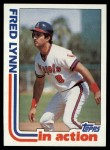 1982 Topps #252   -  Fred Lynn In Action Front Thumbnail