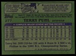 1982 Topps #277  Terry Puhl  Back Thumbnail