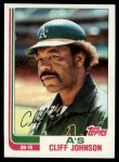 1982 Topps #422  Cliff Johnson  Front Thumbnail