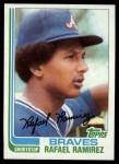 1982 Topps #536  Rafael Ramirez  Front Thumbnail