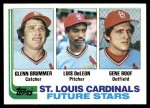 1982 Topps #561   -  Gene Roof / Glenn Brummer / Luis DeLeon Cardinals Rookies Front Thumbnail