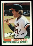1982 Topps #593  Billy Smith  Front Thumbnail