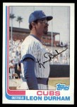 1982 Topps #607  Leon Durham  Front Thumbnail