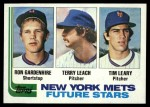 1982 Topps #623   -  Tim Leary / Ron Gardenhire / Terry Leach Mets Rookies Front Thumbnail