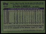 1982 Topps #627  Enos Cabell  Back Thumbnail