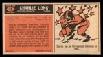1965 Topps #13  Charlie Long  Back Thumbnail