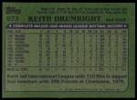 1982 Topps #673  Keith Drumwright  Back Thumbnail