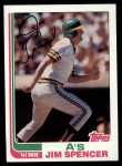 1982 Topps #729  Jim Spencer  Front Thumbnail
