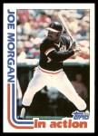 1982 Topps #755   -  Joe Morgan In Action Front Thumbnail