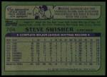 1982 Topps #764  Steve Swisher  Back Thumbnail