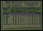 1982 Topps #767  Roy Smalley  Back Thumbnail