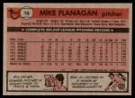 1981 Topps #10  Mike Flanagan  Back Thumbnail