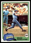 1981 Topps #64  Brian Asselstine  Front Thumbnail