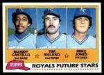 1981 Topps #66   -  Tim Ireland / Manny Castillo / Mike Jones Royals Front Thumbnail