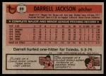 1981 Topps #89  Darrell Jackson  Back Thumbnail