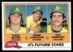 1981 Topps #96   -  Pat Dempsey  /  Dave Beard  /  Ernie Camacho A's Front Thumbnail