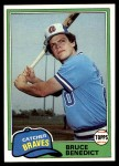 1981 Topps #108  Bruce Benedict  Front Thumbnail