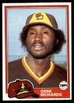 1981 Topps #171  Gene Richards  Front Thumbnail