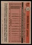 1981 Topps #174  Doug Rau  Back Thumbnail
