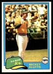 1981 Topps #232  Mickey Klutts  Front Thumbnail
