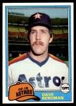 1981 Topps #253  Dave Bergman  Front Thumbnail