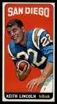 1965 Topps #165  Keith Lincoln  Front Thumbnail