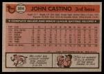 1981 Topps #304  John Castino  Back Thumbnail