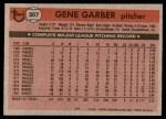1981 Topps #307  Gene Garber  Back Thumbnail