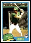 1981 Topps #341  Dwayne Murphy  Front Thumbnail