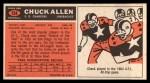 1965 Topps #154  Chuck Allen  Back Thumbnail