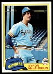 1981 Topps #344  Byron McLaughlin  Front Thumbnail