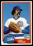 1981 Topps #352  Dick Tidrow  Front Thumbnail