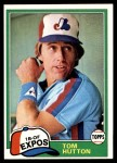 1981 Topps #374  Tommy Hutton  Front Thumbnail