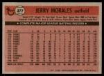 1981 Topps #377  Jerry Morales  Back Thumbnail