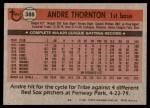 1981 Topps #388  Andre Thornton  Back Thumbnail