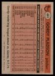 1981 Topps #491  Gordy Pladson  Back Thumbnail