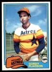 1981 Topps #491  Gordy Pladson  Front Thumbnail