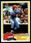 1981 Topps #509  Pete Mackanin  Front Thumbnail