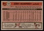 1981 Topps #556  Jerry Mumphrey  Back Thumbnail