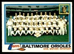1981 Topps #661   Orioles Team Checklist Front Thumbnail