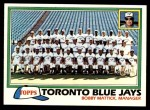 1981 Topps #674   Blue Jays Team Checklist Front Thumbnail