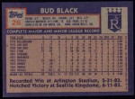 1984 Topps #26  Bill Black  Back Thumbnail