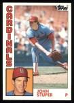 1984 Topps #49  John Stuper  Front Thumbnail