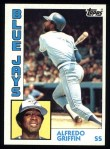 1984 Topps #76  Alfredo Griffin  Front Thumbnail