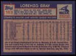 1984 Topps #163  Lorenzo Gray  Back Thumbnail