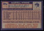 1984 Topps #173  Marvell Wynne  Back Thumbnail