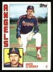 1984 Topps #184  Mike O'Berry  Front Thumbnail