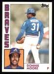 1984 Topps #207  Donnie Moore  Front Thumbnail