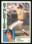 1984 Topps #338  Mike Warren  Front Thumbnail