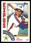 1984 Topps #390   -  Tim Raines All-Star Front Thumbnail